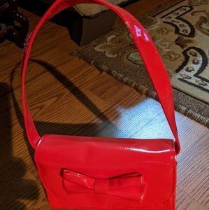 Adorable Little girl red hand bag with front Bow